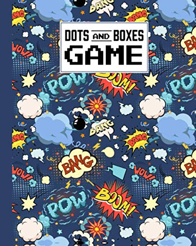 Dots And Boxes Game: Premium Bubbles Cover Dots And Boxes Game, A Classic Strategy Game - Large and Small Playing Squares - Big Book, Dot to Dot Grid, ... Line, Pigs in a Pen, 120 Pages, size 8