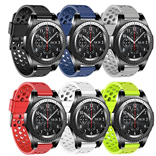 fit-power für Gear S3 Frontier Band, 22 mm WEICHES Silikon schnellen Release Bands Strap für Samsung Gear S3 Frontier/S3 Classic/Huawei Watch 2 Classic