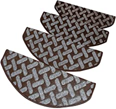 JIAJUAN Semicircle Stair Carpet Treads Durable Non-Slip Protection Pads Home, 6mm, 5 Styles, 4 Sizes, Customize (Color : C...