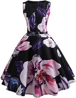 007XIXI Vintage Dresser,Women Vintage Bodycon Short Sleeve Casual Retro Evening Party Prom Swing Dress