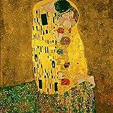 DIY Oil Painting Gustav Klimt El Beso - Kits de Pintura por números para Adultos DIY 2058 Decoraciones Regalos-with Frame