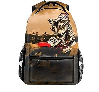 Lightweight Dirt-Bike Motocross Motorcycle Vehicle Backpacks Women Bags Men Bookbags