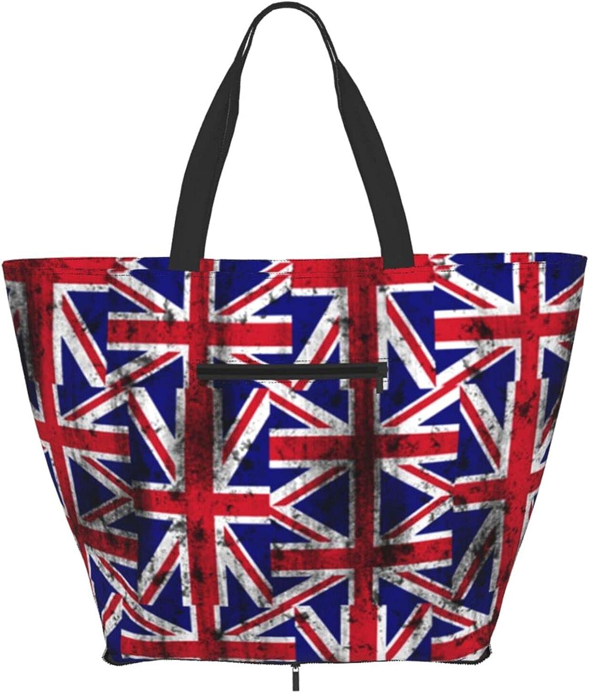 Shoulder Tote Super beauty product restock quality top! Bag Distressed Uk British Flag Dedication Top Handle Sa Purse