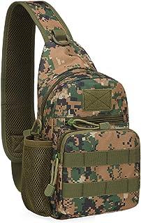 Multifunktions Sling Pack Bag, Weiches Leicht Einfach Zu Tragen Brusttasche Multi-Pocket-Rucksack Outdoor Sports Beilufige Segeltuch Beutel Brusttasche Sling Rucksack Schultertasche Unbalance Rucksack