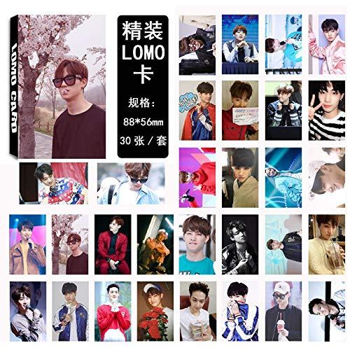 30pcs/Set K pop GOT7 photocard JB Single 03 Fashion GOT7 Album Photo Card Stationery Set Promotion