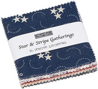 Star & Stripe Gatherings Mini Charm Pack by Primitive Gatherings; 42-2.5