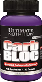 Ultimate Nutrition Carb Block Ultra Potent Weight Loss Pills, 90 Capsules, 100g