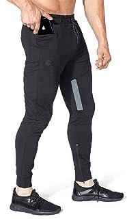 BROKIG Mens Thigh Mesh Gym Jogger Pants, Men's Casual...