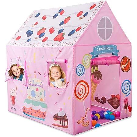 Anyshock テント 子供 女の子 おもちゃ 折り畳み式 ポータブル 玩具収納 秘密基地 知育玩具 プレゼント 室内用 裏庭用 公園用 クリスマスプレゼント キッズテント