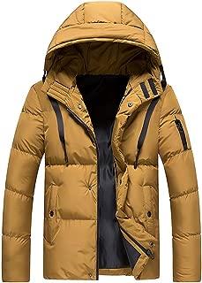 Men's Latest Lightweight Packable Puffer Down Jacket, Winter Water & Wind-Resistant Outwear Coat with Hoodie