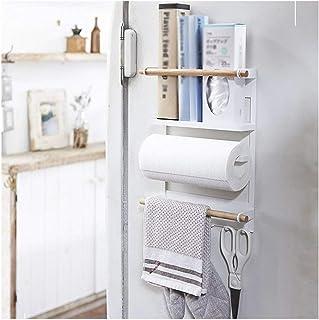 Dxbqm Organisateur de Stockage Support de Rangement pour réfrigérateur Serviette de Cuisine montée sur Le côté Stockage de...