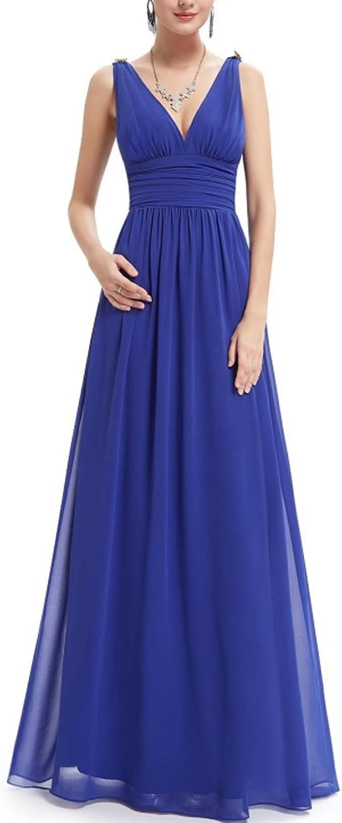Kaxidy Damen Abendkleider Lang Armellos Lange Kleider Lang Chiffon Partykleider Amazon De Bekleidung