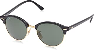 RAY-BAN RB4246 Clubround Sunglasses, Spotted Black Havana/Green, 51 mm