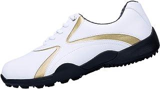 Chaussures de Golf Imperméables pour Hommes, Chaussures de Golf Spikeless