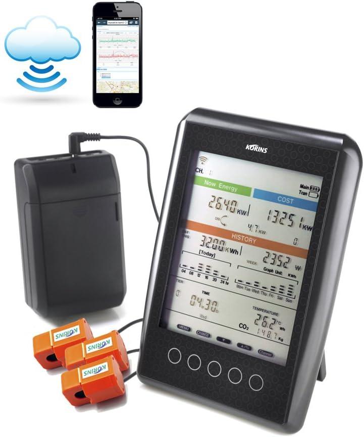 Korins MyWatt 10ch. Wireless Electricity Monitor with Cloud Serv