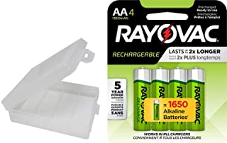Rayovac Rechargeable 1350mAh NiMH AA Batteries 4 Pack