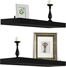 Best Sorbus Floating Shelf — Hanging Wall Shelves Decoration — Perfect Trophy Display, Photo Frames — Extra Long 24 Inch (Black) Review
