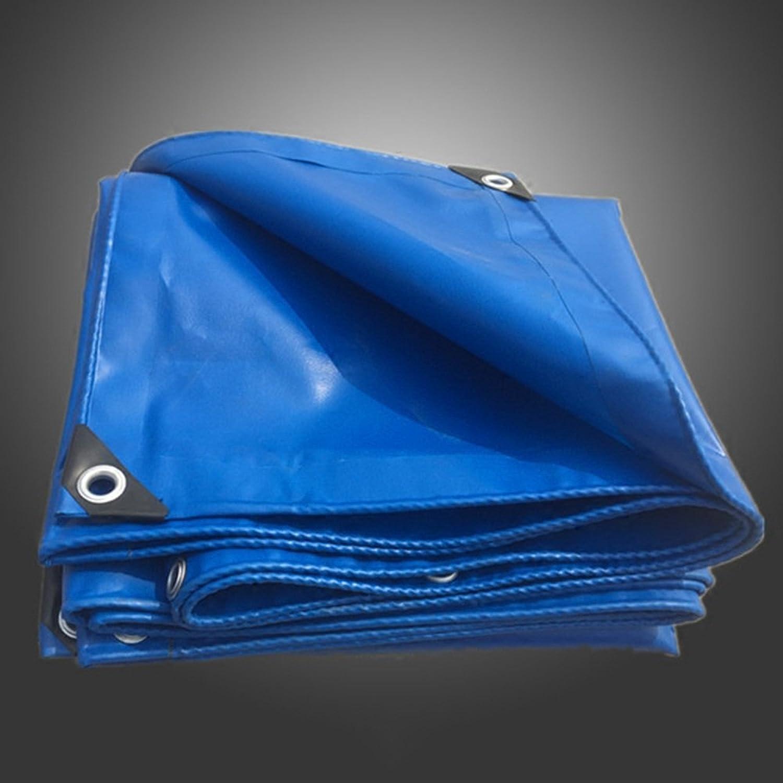 ZRTarps Tarpaulin Outdoor blueee Thick Waterproof rain Sunscreen Car Truck Tarpaulin 0.32MM 420 g M2 in 17 Sizes Outdoor Equipment (color   blueee, Size   4x7m)