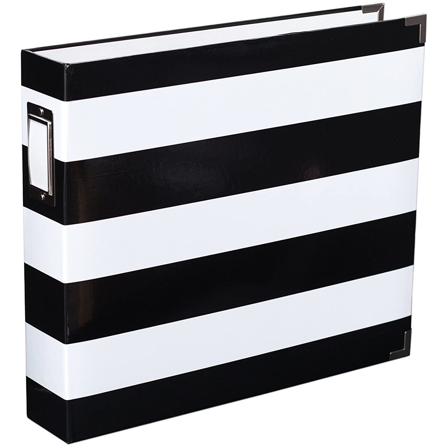 American Crafts Black & White Stripe 12x12 Designer Album