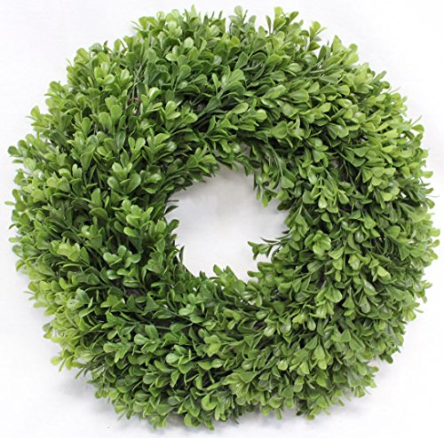 Boxwood Wreath Artificial Wreath 13 Inches Home Decor for Front Door or Candle Ring