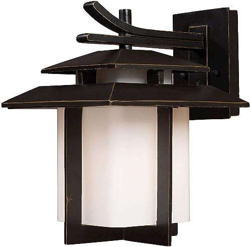 2021 Elk Lighting online 42171/1-LED online Kanso 1 Light Outdoor Hazelnut Bronze-LED Offering Up to 800 Lumens (60 Watt Equivalent) Sconce online