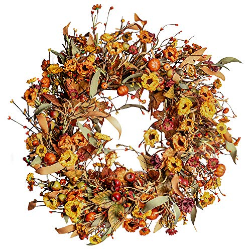 farmhouse fall wreath for front door