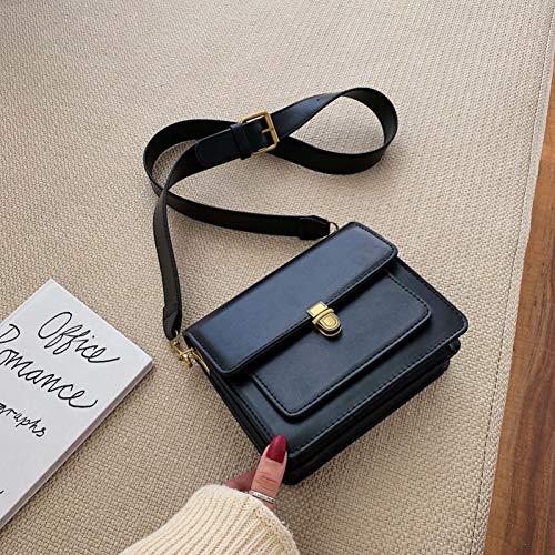 HUANGHUA Women Lock Shoulder Messenger Bag Travel Small Handbags And Purse