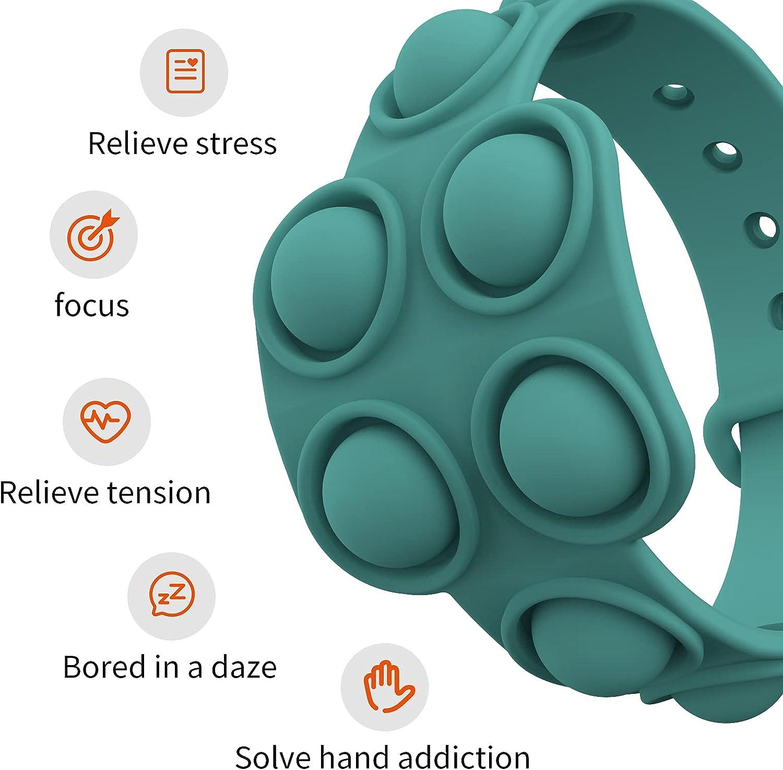 Buy Goldildh 5Pcs Simple Push Pop Bracelet Fidget Toy, Portable Sensory  Fidget Bracelet Toys,Push Pop Bubble Bracelet Stress Relief Hand Toy for  Kids and Adults Online in Vietnam. B094V9GCTC