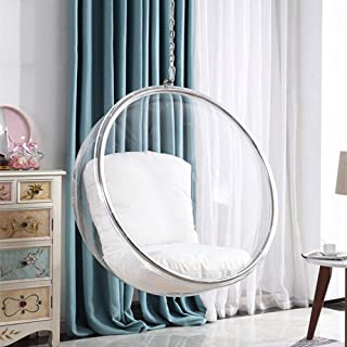 SMGPYHWYP Transparent Bubble Chair, Acrylic Hanging Basket, Swing Hanging Ball, Space Chair, Glass Ball Hanging Chair