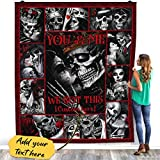 Mourin Shop Personalized Custom Name Skull Couple You and Me We Got This Love Forever Fleece Blanket – Premium Sherpa Blanket