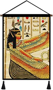 Redcong Canvas Painting Poster, Ancient Egyptian Women Hanging Decor Artwork Art Print Wall Picutre 18x26in