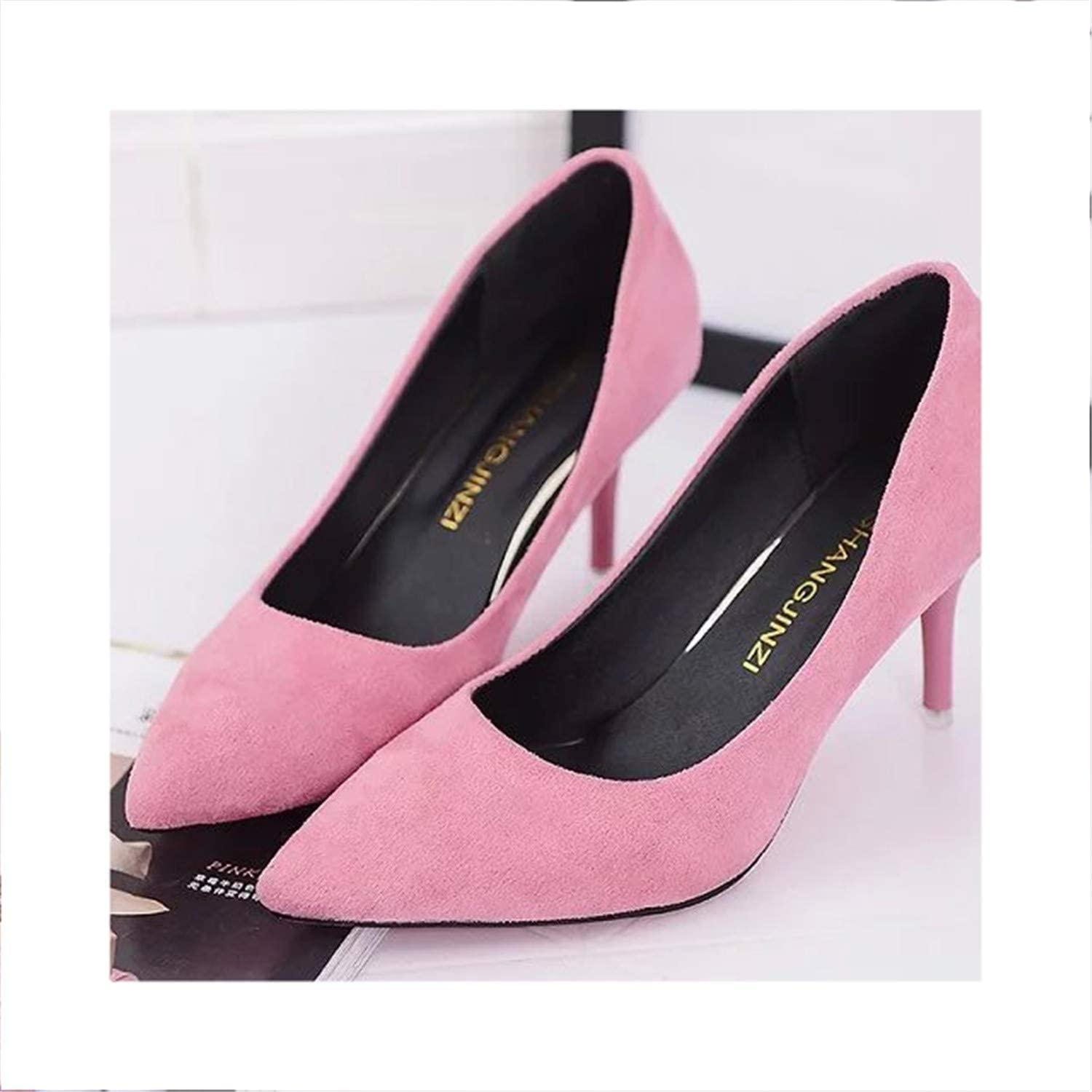 Women shoes Pointed Toe Pumps Dress shoes High Heels Boat shoes 146