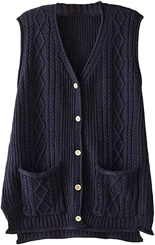 FTCayanz 35% OFF Women's Sweater Vest Button Cardigan Ou Down Dedication Knit Cable