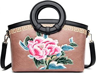 Women's Shoulder Bag Pu Leather Women Woman Shoulder Bag for Work Vegan Purse Crossbody for (Color : Pink, Size : One size)