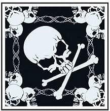 Bandana doodskop, ca. 55 x 55 zwart/wit...