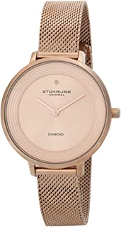 Stuhrling Casual Watch for Women - Stainless Steel, Gold Rose, 589.05