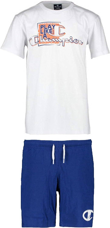 Champion Kids Clothing Set Training Tshirt Shorts Sports Fashion Boy 304895W Gym