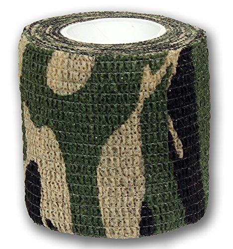 1 Rolle elastische Grip Bandage FOREST CAMOUFLAGE 5 cm x 4,5 m