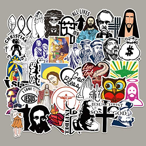 YCYY 50 Graffiti Stickers For Jesus Christ Characters Laptop Luggage Scooter Car Decorative Stickers