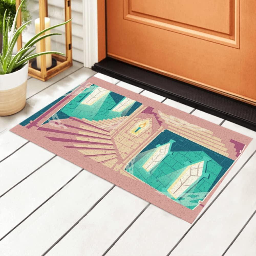 JIUCHUAN Indoor Doormat Spiral Staircase Tower in Max 57% OFF [Alternative dealer] Castle Cartoon