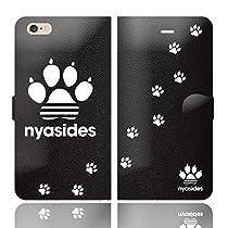 iPhone6SPlus iPhone6Plus 手帳型 ケース カバー NYASIDES ニャシデス A ハート アニマル ワンポイント 面白い 猫 ネコ ねこ