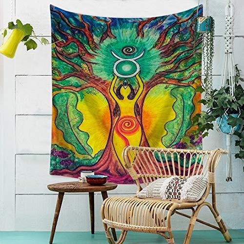 mmzki Buddha Strandtuch Indischen Stil Druckteppich Wandbehang Wanddekoration 6 130 * 150