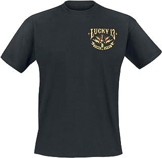 Lucky 13 Black Amped T-Shirt (Xxxl, Black)
