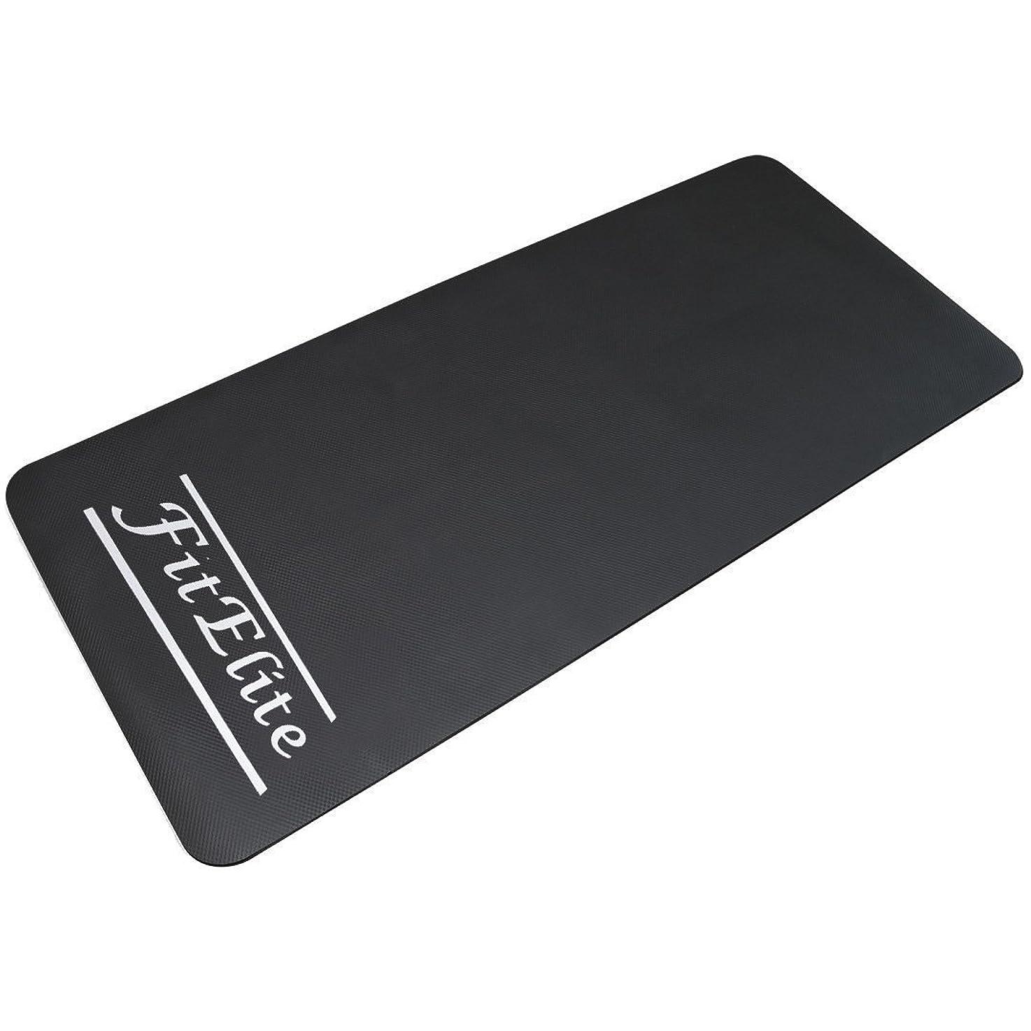 出席コミュニティ順応性のあるFitElite(フィットエリート)フロアマット ルームランナー?ランニングマシン用 防音?振動吸収、フロア保護