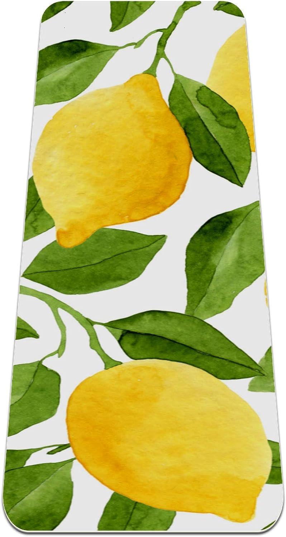 Siebzeh Yellow Super-cheap Citrus Fruit Lemon Premium Eco Mat Fri mart Yoga Thick