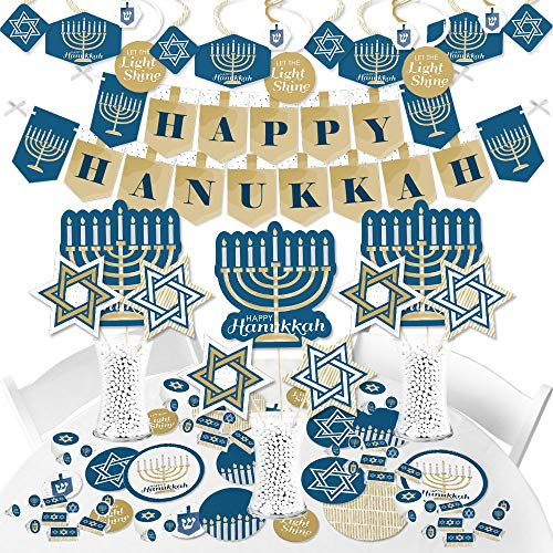 Big Dot of Happiness Happy Hanukkah - Chanukah Supplies - Banner Decoration Kit - Fundle Bundle