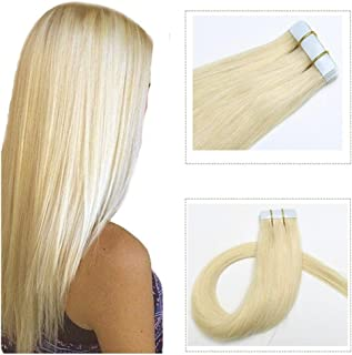Mario Hair Tape In Human Hair Extensions Silky Straight Skin Weft Human Remy Hair (16 inches, #60)