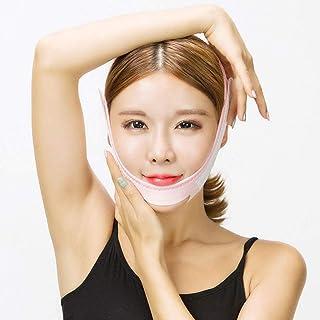 二重あごベルト、薄いフェイスマスクフェイスリフト包帯、V顔面赤面フェイスリフトアーティファクト/あごチークマスク