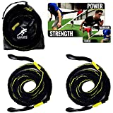 Kbands Victory Ropes - Up to 300 Pound Multiflex Battle Ropes - Strength & Conditioning - Resistance Bands Stretch Up to 20ft Each