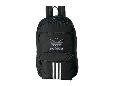 adidas Originals Originals National 3-Stripes Backpack (Black/White) Backpack Bags